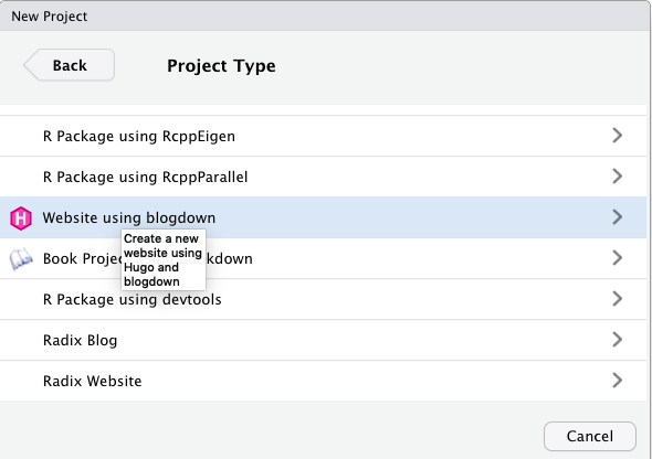 Setting up our blog with RStudio and blogdown I: Creating