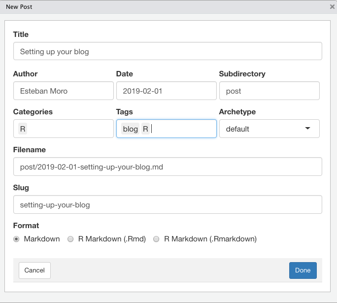 Setting up your blog with RStudio and blogdown II: Workflow